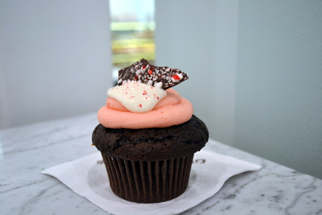 The Sweet Tooth Fairy is now serving a peppermint bark cupcake, among other sweet seasonal treats.