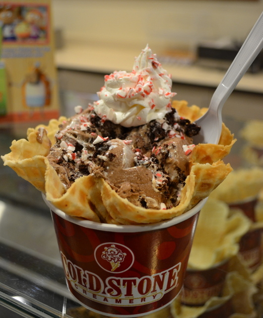 Cold Stone's winter menu includes a minty mocha brownie creation.