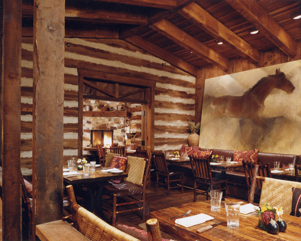 This cozy cabin eatery offers respite from the snowy slopes. (Photo courtesy of Foundry Grill)