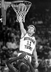 Marty Haws was known for his ability to get to the rim — using his speed and quickness to blow past defenders. (Photo Courtesy BYU)