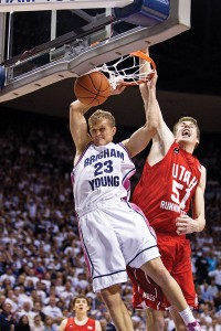 "A ""Mormon Messages"" video about Tyler Haws' early-morning workouts with his dad has nearly 167,000 views. (Photo by Jaren Wilkey/BYU)"