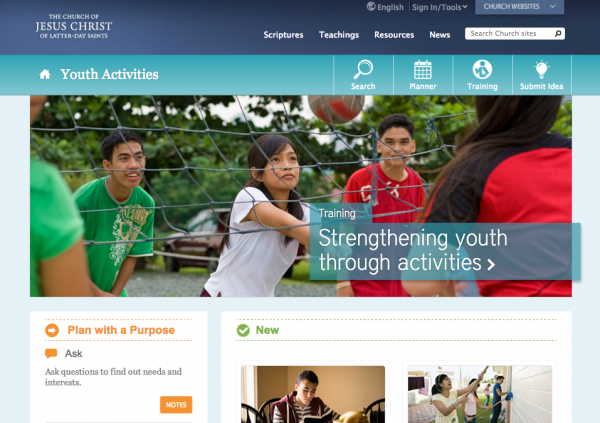 The new youth activities website is designed to help youth, their leaders and their parents as they plan meaningful activities. (Photo courtesy LDS Church)