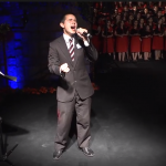 David Archuleta performs at the Santiago Chile Temple Christmas Concert