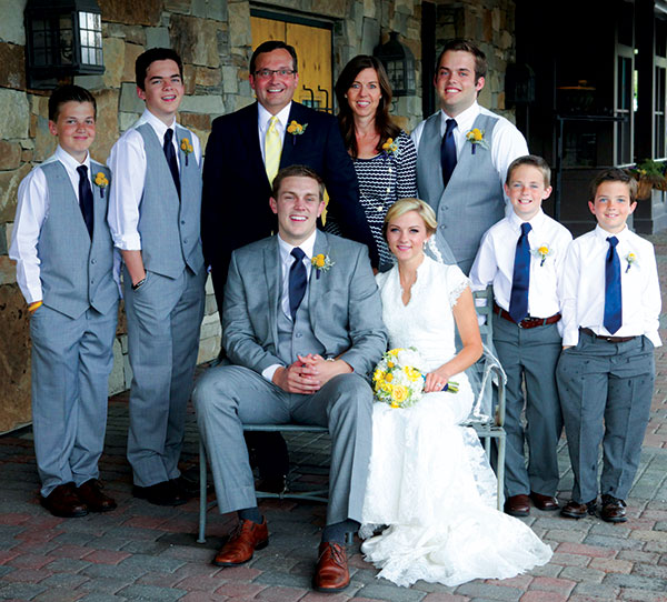 Matt Townsend and his wife, Mardi, have six children ­­— one daughter (the bride) and five sons. (Photo courtesy Matt Townsend)