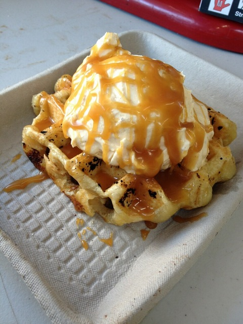 Waffle Luv's pumpkin waffle is back by popular demand, just for the holidays. (Courtesy of Waffle Luv)