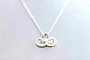 Personalized gifts like this monogram charm necklace (from local Etsy shop Simply Me Jewelry by MJ), makes a meaningful Christmas gift. (Photo courtesy of Melissa Krantz)