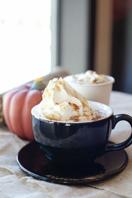 Drinking a cup of Decadence Cafe's pumpkin hot cocoa is a fun (and delicious) way to warm up this winter.