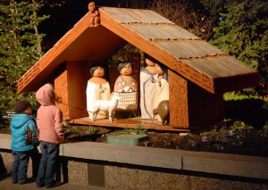 Five child-sized nativities representing different cultures draw families to Temple Square. Photo courtesy Mormon Newsroom, © 2011 Intellectual Reserve, Inc. All rights reserved.