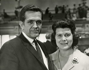 Elder and Sister Packer in the Tabernacle at general conference, April 1970. (Photo courtesy Mormon Newsroom.)