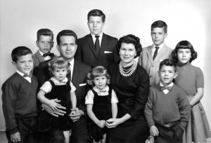 The Boyd and Donna Packer family, 1961. (Photo courtesy Mormon Newsroom.)