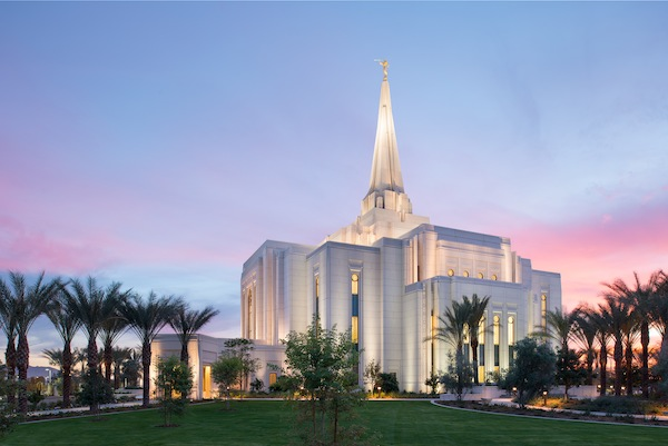 The Gilbert Arizona Temple, being dedicated on March 2, will be the 142nd operating LDS temple. This week the LDS Church began showing a new temple video in select temples. (Photo courtesy LDS Church)