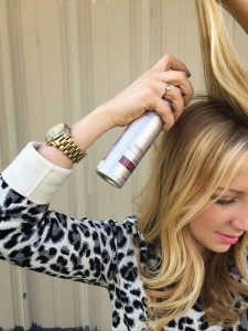 "Dry Shampoo extends your hairstyle and delays the suds. ""Spray it an inch or so from the root in several sections around your crown,"" says Darcy Moody, owner of Suggestions Salon.  (Photo courtesy Suggestions Salon)"