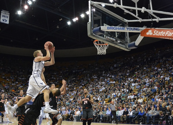 BYU standout Tyler Haws is known amongst his teammates for being superstitious. (Photo by Rebecca Lane)
