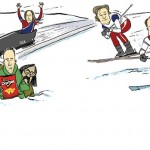 Cartoon: Frolicking in a  Winter Wonderland