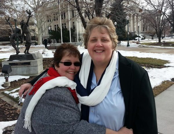Shelly Eyre and Cheryl Haws were married in Utah County on New Year's Eve. (Photo courtesy Shelly Eyre)
