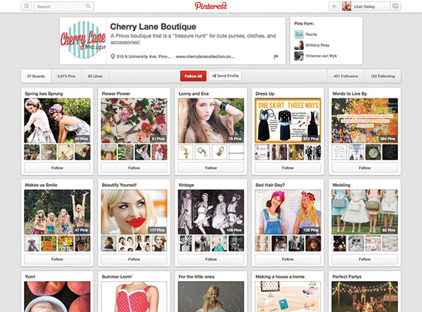 Looking for 2014 fashion inspiration? Look no further than Cherry Lane Boutique's Pinterest page. (Photo courtesy Pinterest)