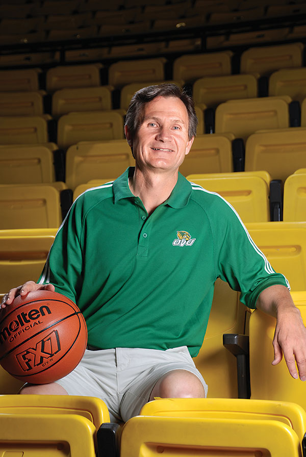 UVU men's basketball coach Dick Hunsaker knows what it takes to be part of a winning team — and he has one in UCCU. (Photo by Dave Blackhurst)