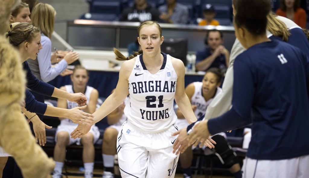 Lexi Eaton is back on the court for BYU women's basketball. (Photo by Jonathan Hardy/BYU Photo)