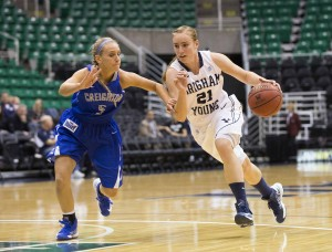 Sophomore guard Lexi Eaton missed last season after a knee injury. Photo by Mark Philbrick (BYU Photo)