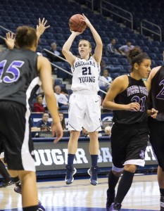 Eaton is the Cougars' second-leading scorer so far this season. Photo by Mark Philbrick (BYU Photo)