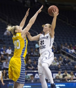 BYU's women's basketball team is off to a 12-2 start. (Photo by Jaren Wilkey/BYU Photo)