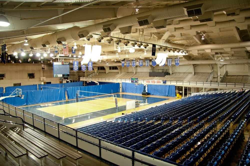 Before the Cougars had the Marriott Center to play in, they played in the Smith Fieldhouse. (Photo courtesy BYU Photo)