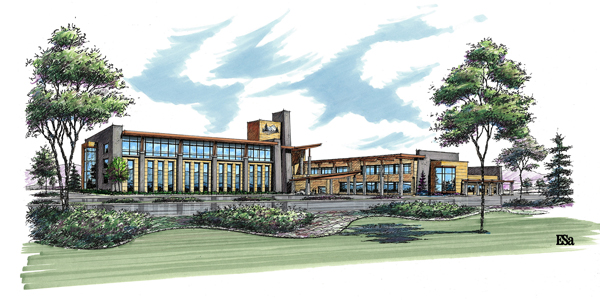 This illustration depicts a rendering of the exterior of the future hospital. (Photo courtesy of IASIS Healthcare.)