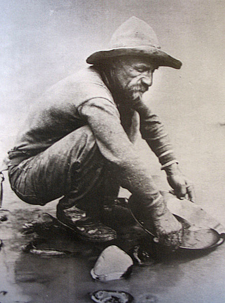 Brigham Young discouraged the general Church membership from going to California in search of gold, but he called small group was called to do just that. (Photo of 49er from public doman, via Wikimedia Commons.)