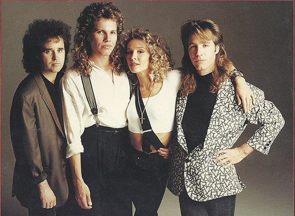 Paul (second from the left) was a lead vocalist for two 1980s bands, Animotion (shown in the photo) and Device.