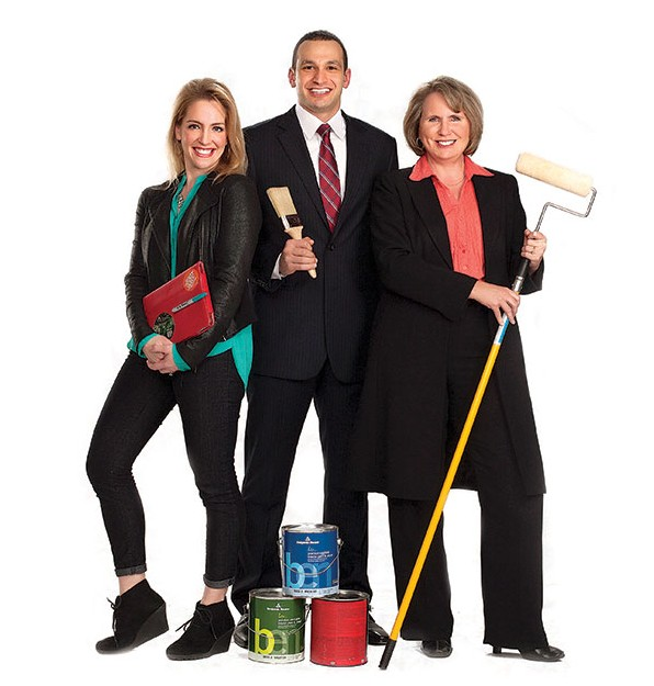 From left to right, Lisa Valentine Clark, Mustapha El Akkari and Susan Madsen. (Photo by Instudio/Kenneth Linge)