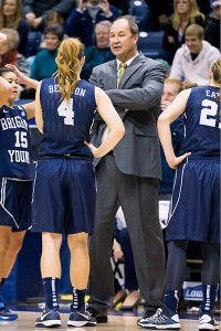 BYU women's basketball head coach Jeff Judkins.