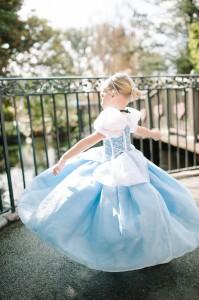 Orem resident Norah Evans, 3, spins like a princess at Disneyland Resort.
