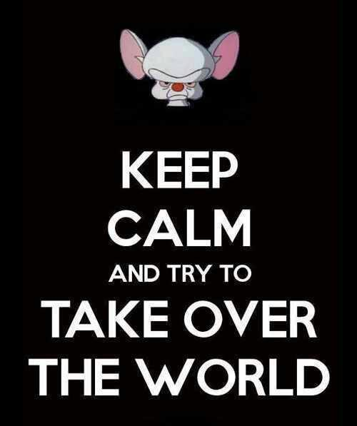 Pinky and the brain- keep calm