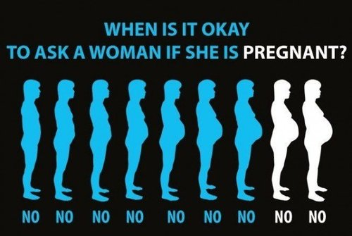 When to ask a pregnant woman