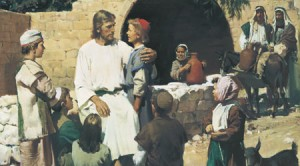 Christ loved the little children. This photo caused some confusion in my Primary class. (Photo courtesy LDS.org.)