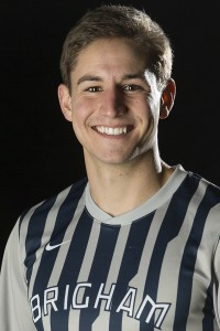 Scott Heaton 25 years old  Provo MTC teacher, grad student, forward on BYU men's soccer team  (Photo courtesy of Jaren Wilkey)