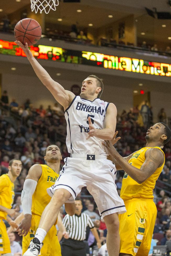 While it's true Chris Collinsworth's basketball career at BYU was cut short by injuries, younger brother Kyle is a major force on this year's team. (Photo by BYU Photo, Mark Philbrick)