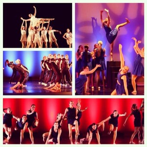 A collage of photos from the Cougarettes' winter concert showcases the group's versatility and artistry. (Photo courtesy of Jodi Maxfield)