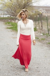Skirts are all the rage this spring, said Alisha Merrill, owner of the Bella Ella boutiques.