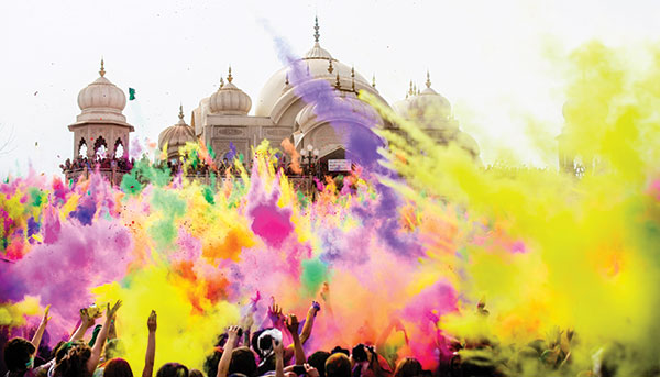 The annual Festival of Colors is at the Krishna Temple in Spanish Fork on March 28 and 29.