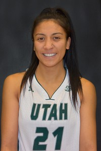 Rhaiah Spooner-Knight, freshman on the UVU women's basketball team. (Photo by Rebecca Lane)