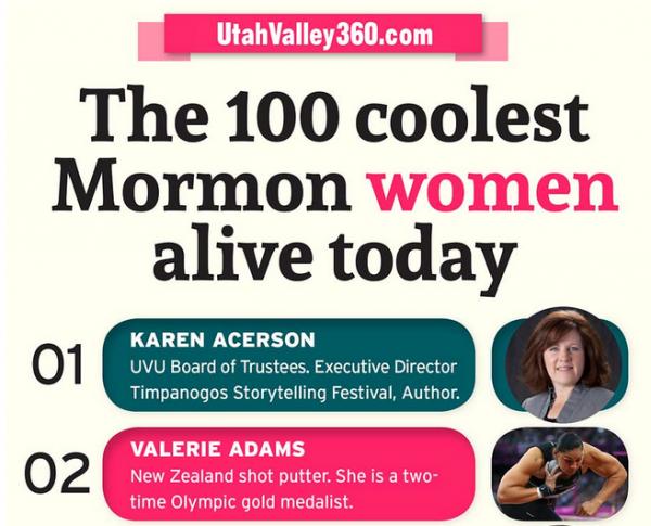 100 coolest Mormon women