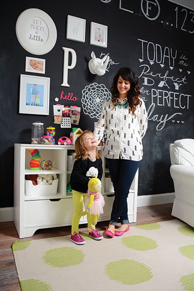 Tana made over her daughter Presley's bedroom to kick off the Destination Nursery giveaway series. Presley's smile is proof that she approves.