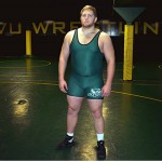 Adam Fager shoots for the stars from UVU's wrestling mat