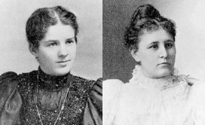 Lucy Jane Brimhall and Inez Knight were called as full-time missionaries to the British mission in 1898. (Photo courtesy LDS.org.)