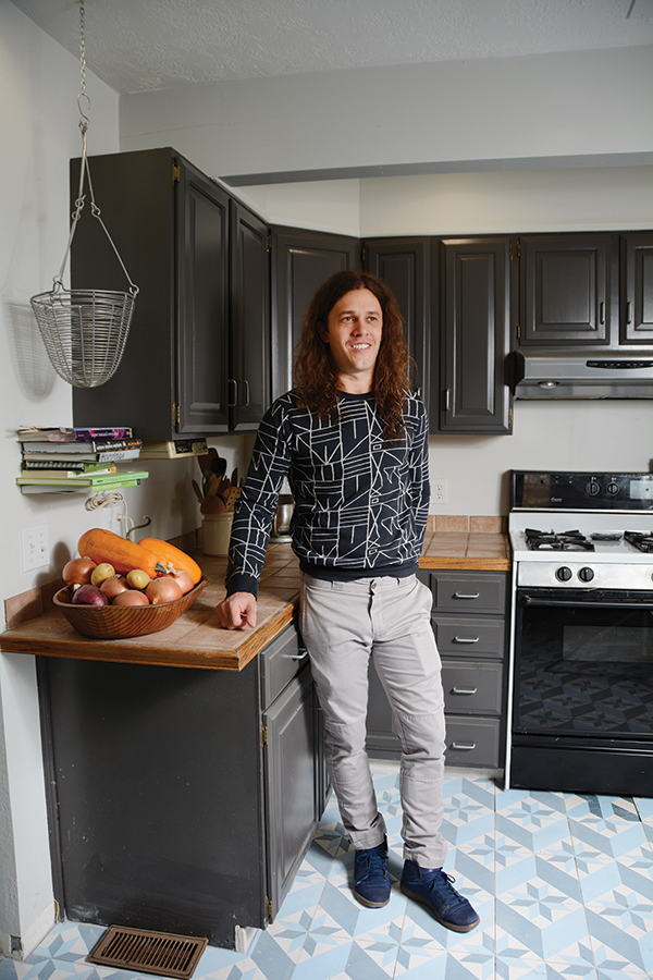 While Cubby James' restaurant is a popular lunch spot, he eats breakfast foods twice a day in his home kitchen. He plans to start serving breakfast and cold pressed juices at Cubby's in the future. (Photo by Leah Aldous)