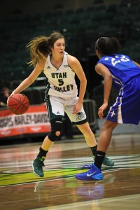 Freshman point guard Georgia Agnew played at Salem Hills High. (Photo courtesy UVU Athletics)