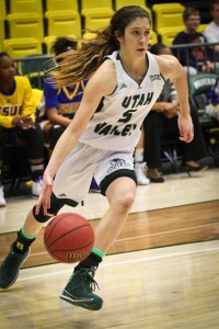 UVU freshman point guard Georgia Agnew is known for her ball-handling skills.