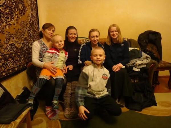 Sister Kathryn Webber while serving in Chernivtsi, Ukraine. (Photo courtesy Kathryn Webber.)