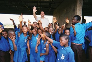 """During Christmastime, Dr. Layne Garrett made a humanitarian visit to Ghana to provide audiology help and sponsor """"Hear For The Holidays,"""" a program where Timpanogos Hearing and Balance accept nominations and donate hearing aids and treatment to deserving ears. (Photo courtesy Timpanogos Hearing and Balance)"""